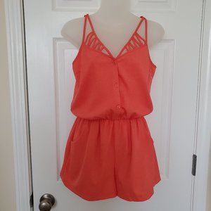 Altar'd State Sleeveless Romper Pockets Size Small